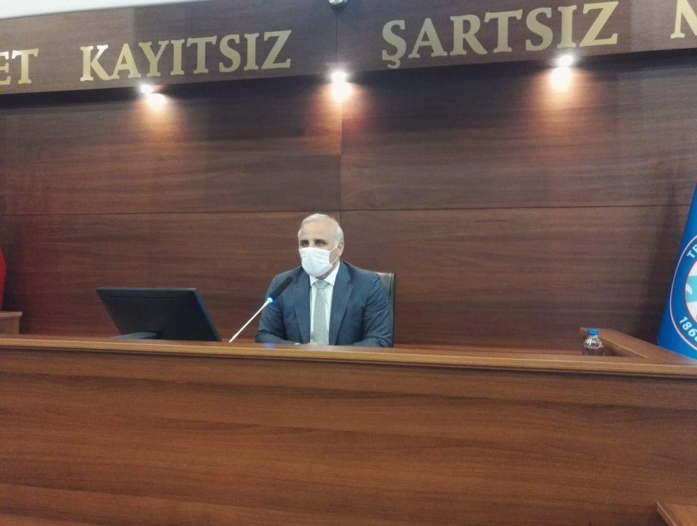 Trabzon Büyükşehri Belediye Meclisinde koronavirüs tedbirleri