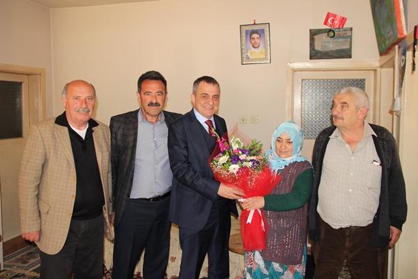 Başkan Sağıroğlu şehit annelerini unutmadı