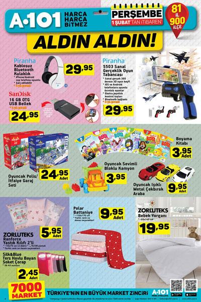 A101 haftanın indirimli ürünleri - 1 Şubat A101 Aktüel Ürünler