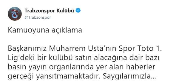 Trabzonspor'dan o iddia için açıklama: Muharrem Usta...