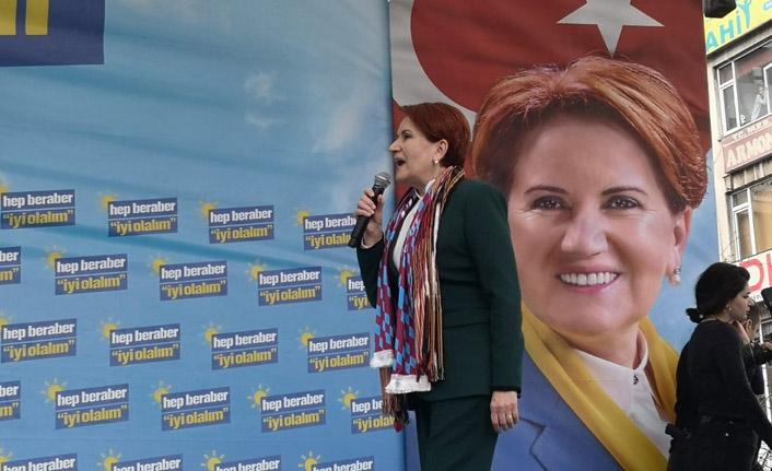 Meral Akşener'den Trabzon'da Erdoğan'a çağrı: Ne Mutlu Türküm diyene dersen size oy veririm