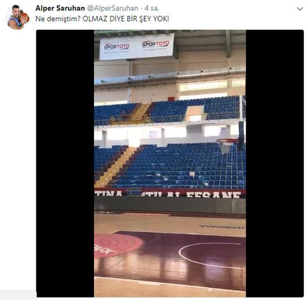 Trabzonsporlu oyuncudan akıllara zarar basket