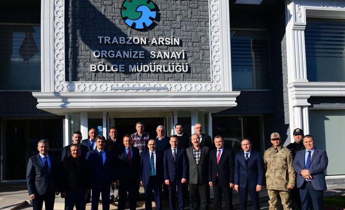 Vali İsmail Ustaoğlu Arsin OSB'yi ziyaret etti