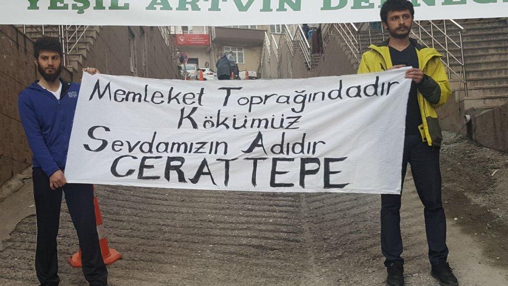 Artvin'de, Cerattepe olayları 2'nci yılında protesto edildi