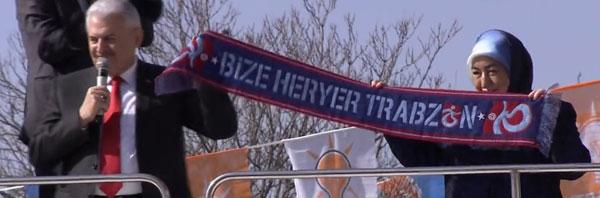 Başkandan Yıldırım Trabzon atkısı ile çıktı!