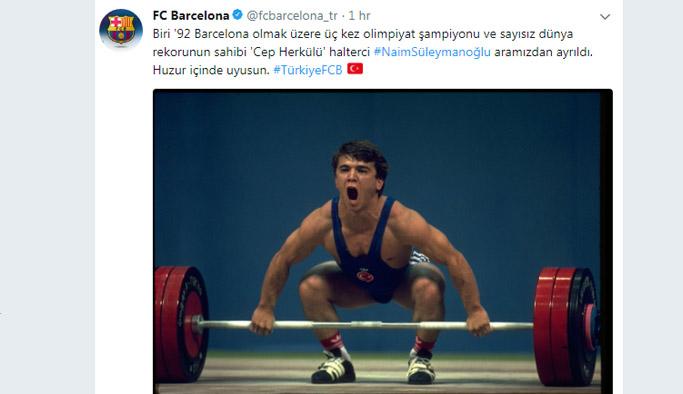 Barcelona, yüzyılın sporcusu Naim Süleymanoğlu'nu unutmadı