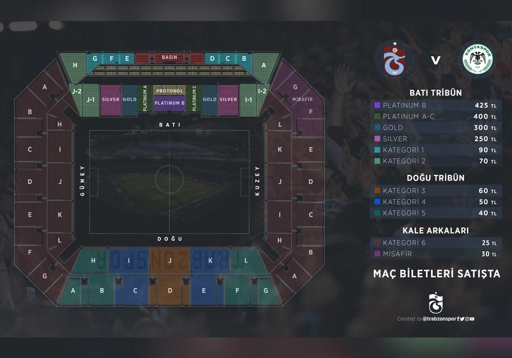 Trabzonspor Konyaspor maçı biletleri satışa çıktı