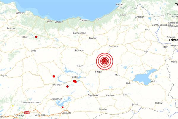 Bingöl'de 5,9 büyüklüğünde deprem