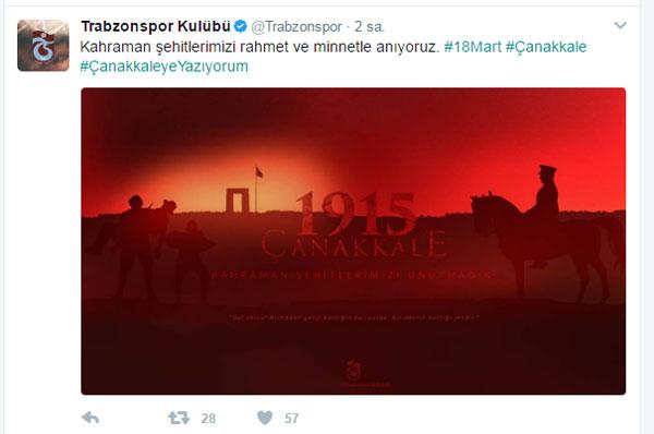 Trabzonspor'dan 18 Mart mesajı!