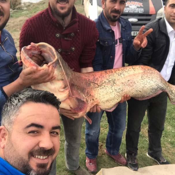 Yakaladığı balık şok etti 2