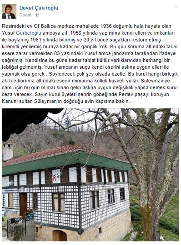 Trabzon'da bir garip olay: Kendi evine zarar vermekten…