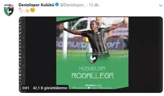 Denizlispor Rodallega transferini açıkladı