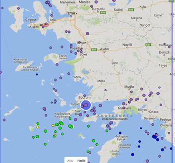 Bodrum açıklarında 6,7 büyüklüğünde deprem