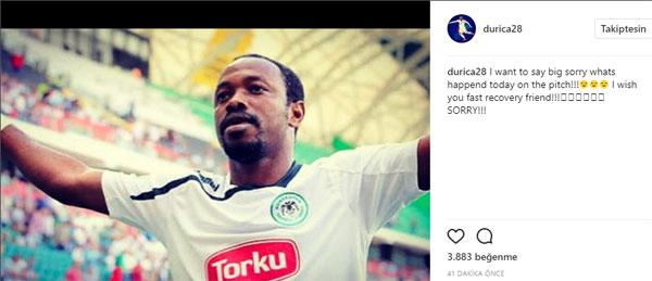 Durica'dan Traore mesajı: Özür diledi