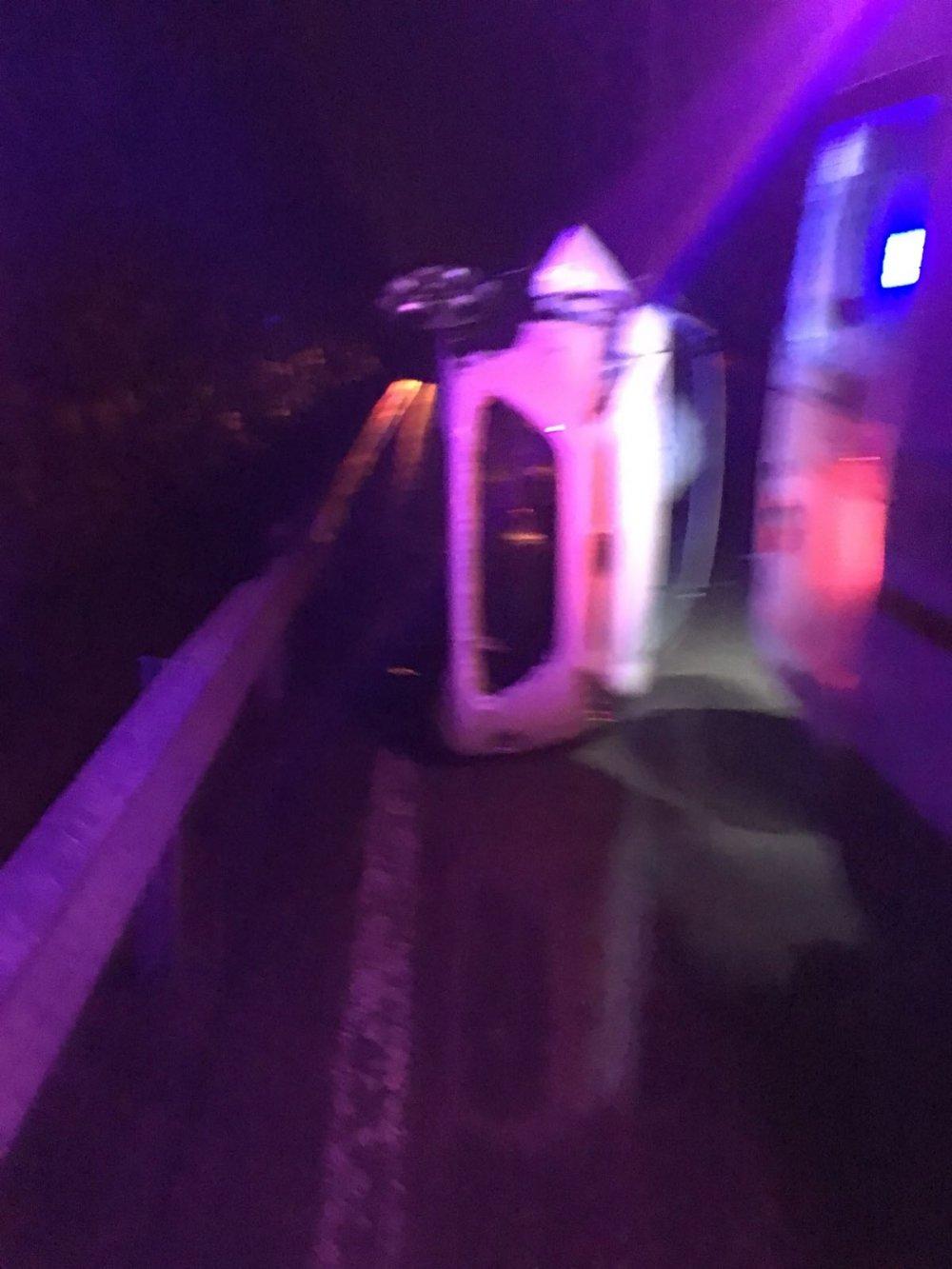 Çaykara yolunda trafik kazası