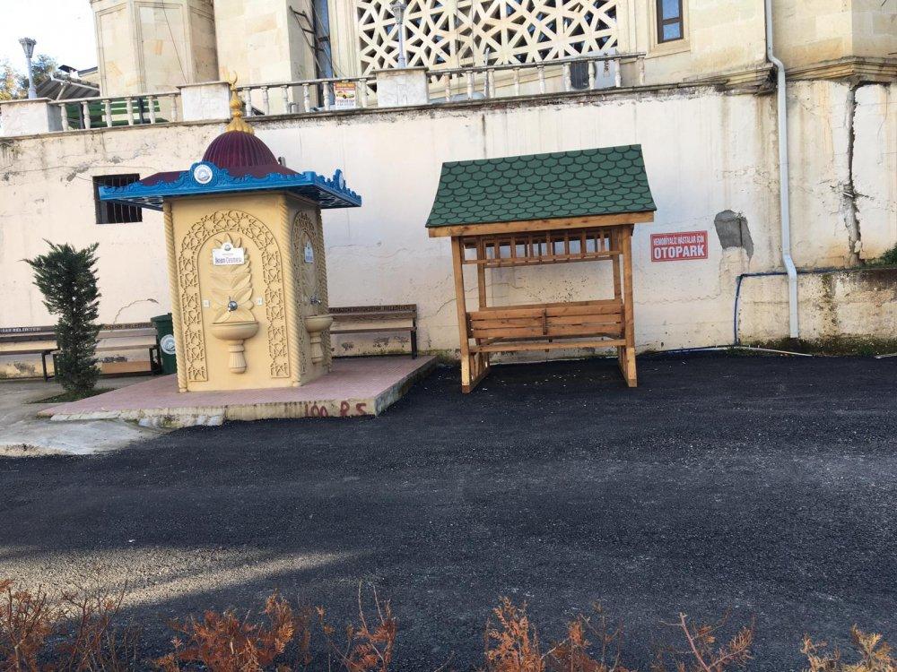 Trabzon'da hastane bahçesindeki görüntü hastaları kızdırdı