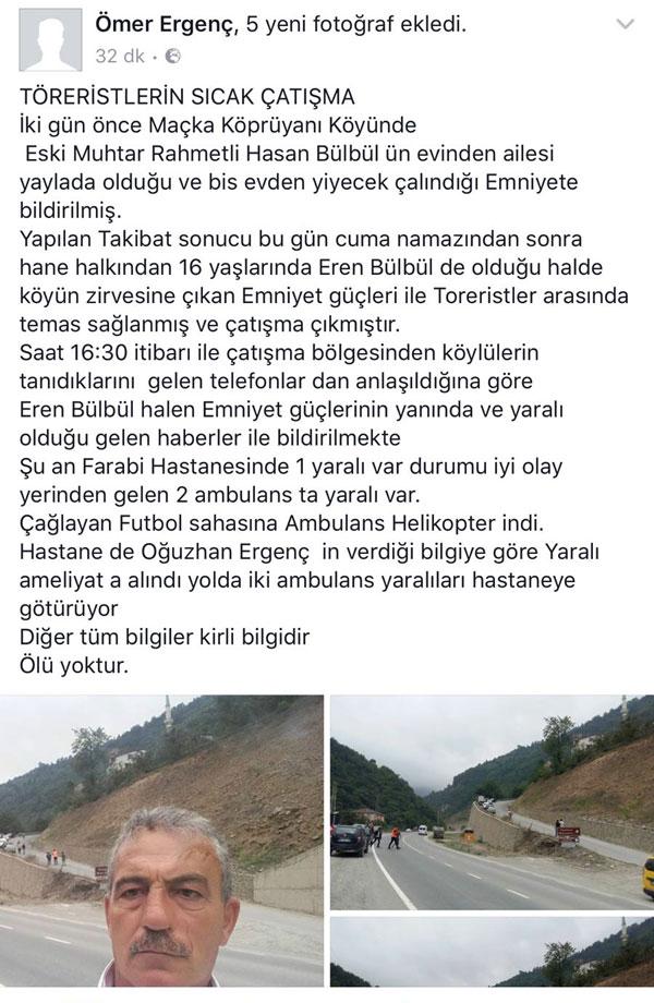 Trabzon Maçka'da ki çatışma ile ilgili şok iddia: 16 yaşındaki çocuk…