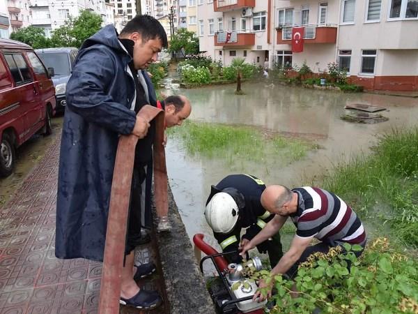Giresun'u şiddetli yağış vurdu