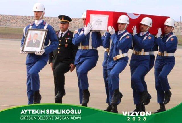 Giresun'da başkan adayından tepki çeken afiş