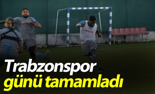 Trabzonspor antrenmanında sürpriz
