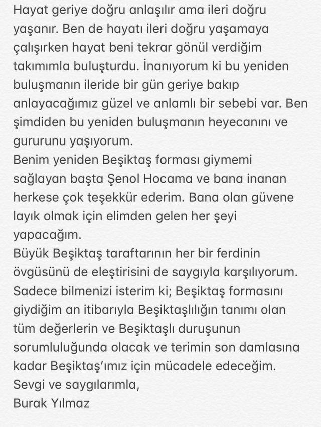 Burak'tan transfer açıklaması: Beşiktaşımız...