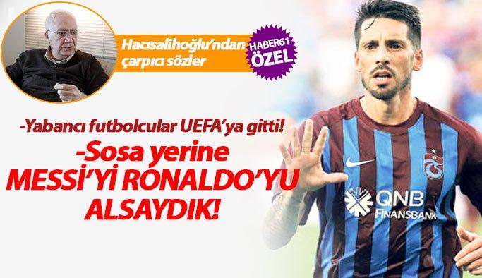 Trabzonspor Çalımbay ile devam edecek mi? Hacısalihoğlu açıkladı...