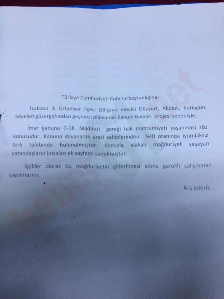 Trabzon'da Kanuni Bulvarı'nda mağduriyet tartışması