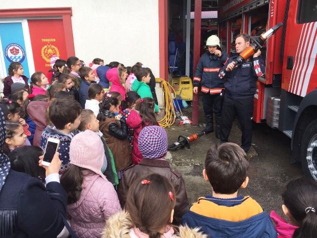 Trabzon'da Yangın eğitimleri sürüyor