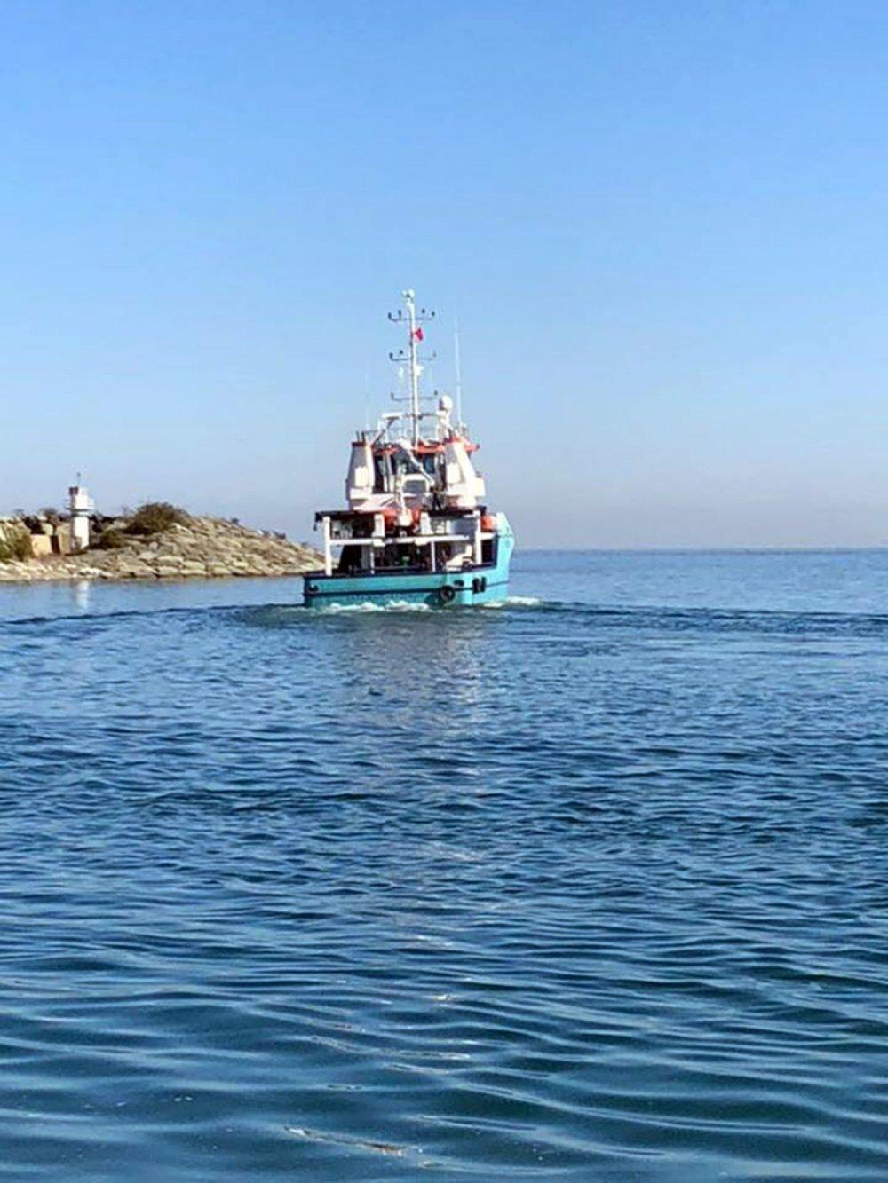 'Karadeniz' araştırma gemisinin rotası; Bulgaristan sınırı