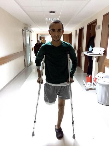 Kayseri gazisi protezle ayaklandı