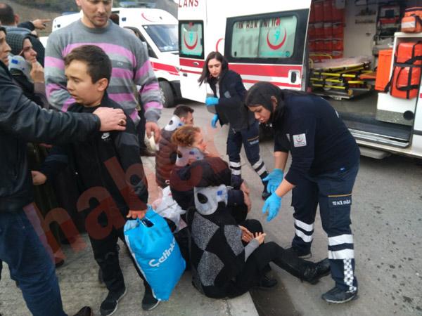 Trabzon'da kamyon Belediye otobüsüne çarptı - 8 yaralı