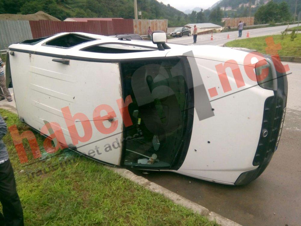 Trabzon'da kaza: 2'si çocuk, 3 yaralı