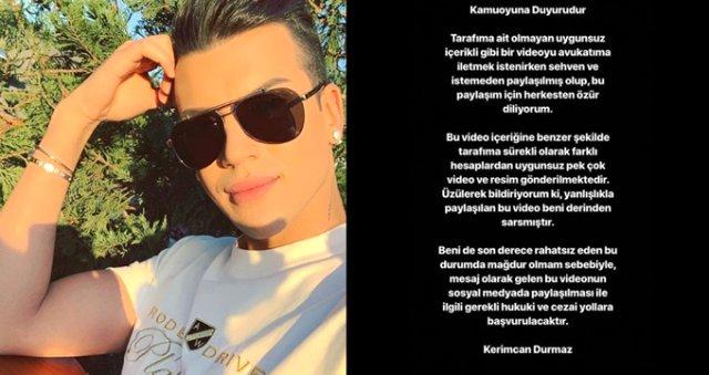 Kerimcan Durmaz'dan Skandal Video! Cinsel Organını Gösterdi