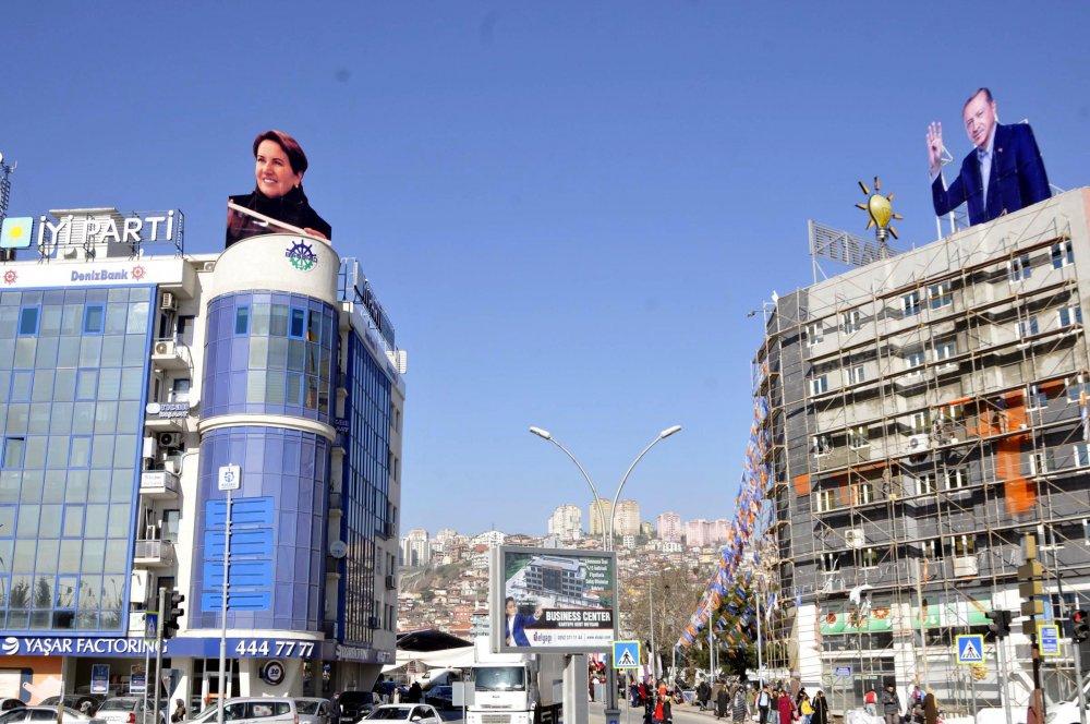 İlginç görüntü: Erdoğan ile Akşener karşı karşıya