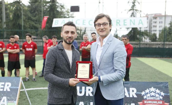 Trabzon'da  Şirketler Kurumlar Sahada turnuvası sona erdi