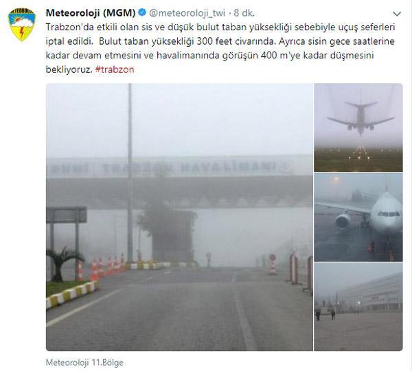 MGM'den Trabzon açıklaması: 400 Metreye kadar düşecek...