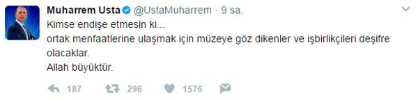 """Muharrem Usta: """"Müzeye göz dikenler..."""""""