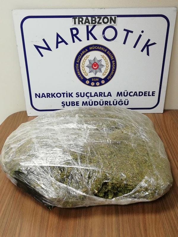 Trabzon'da Uyuşturucu Operasyonu: 2 kişi gözaltında