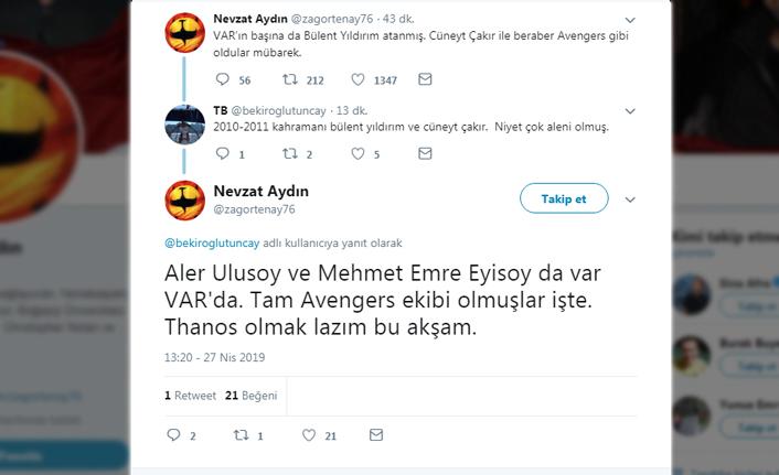 """Nevzat Aydın: """"Avengers gibi oldular..."""""""