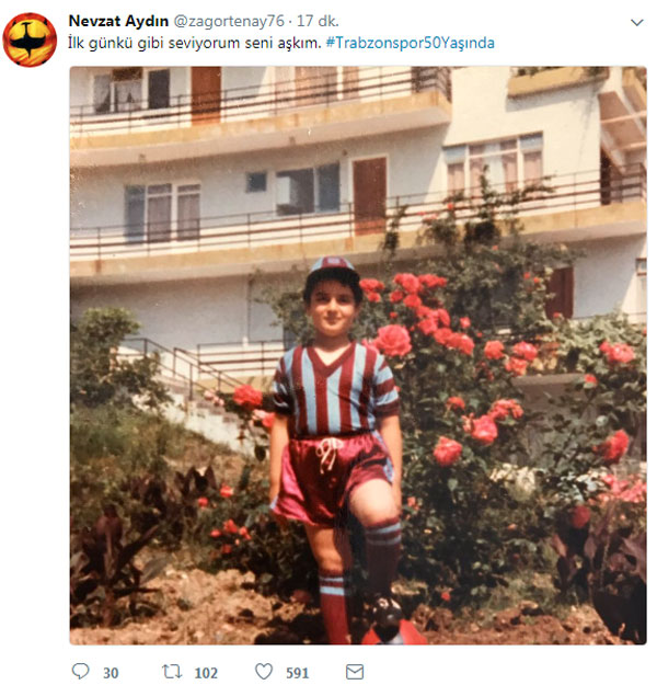Trabzonspor yöneticisinden 50. yıl mesajı: Çocukluk fotoğrafını paylaştı