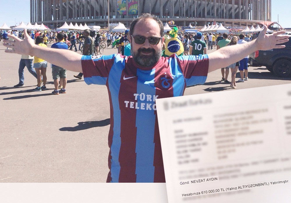 Nevzat Aydın'dan Trabzonspor'a destek