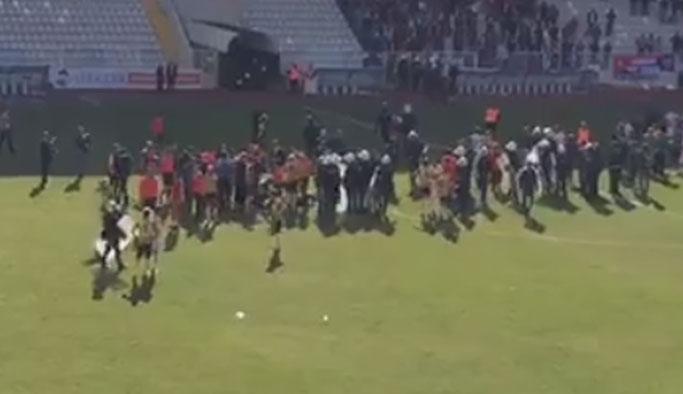 Trabzon takımının maçında olaylar çıktı