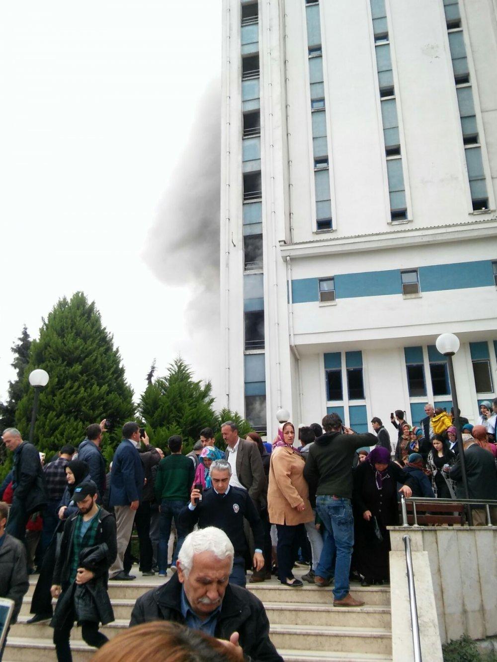 Son dakika... Ordu Devlet Hastanesi'nde yangın çıktı!