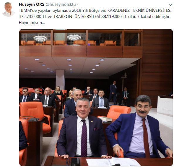 KTÜ ve Trabzon Üniversitesi'nin bütçeleri belli oldu