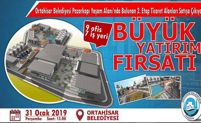 Trabzon'da Pazarkapı'daki ticaret alanları satışa çıkıyor