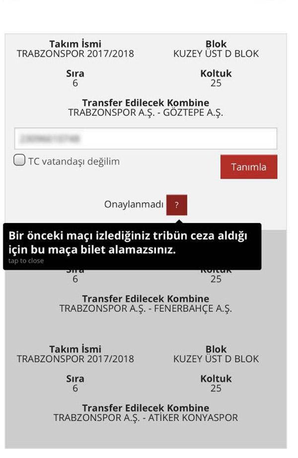 Trabzonspor taraftarı Göztepe maçına bilet alamadı: İşte nedeni