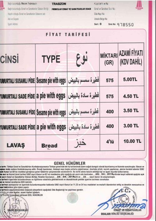 Trabzon'da Ramazan Pidesi fiyatları belli oldu