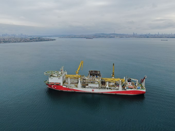 Fatih Sondaj gemisi Trabzon'a gelmek için harekete hazır