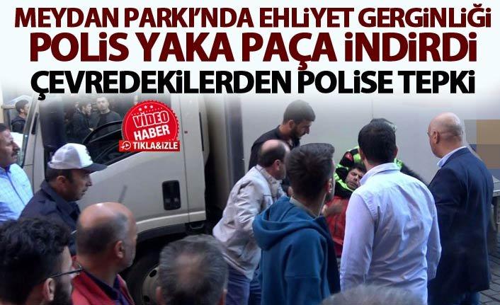 Trabzon'daki o sürücüye esnaf sahip çıktı