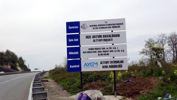 Rize-Artvin Havalimanı'na 88.5 milyon ton taş!
